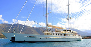 Dione Star sailing luxury charter yacht