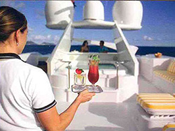 Cocktail on a luxury yacht charter